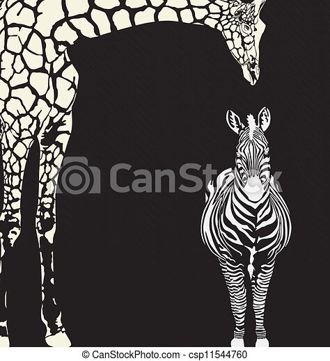 Inverse animal camouflage - csp11544760