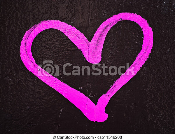 photographies de rose coeur amour mur peint graffiti neon rose aimez csp11546208. Black Bedroom Furniture Sets. Home Design Ideas