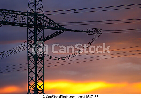 Silhouette of pylon