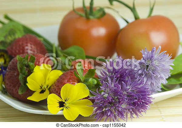edible flowers - csp1155042