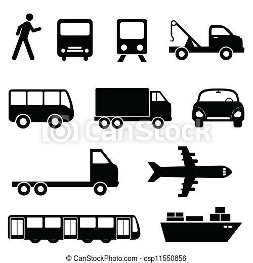 Transportation icon set - csp11550856