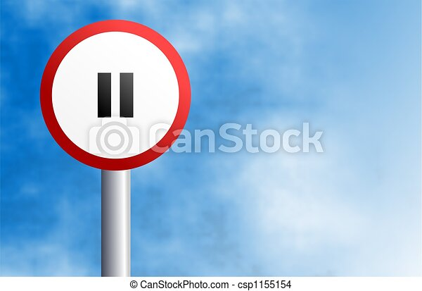 pause, signe - csp1155154