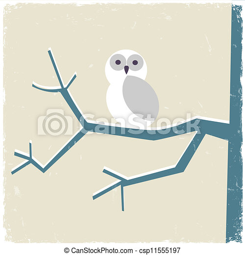 Snowy White Owl Drawing Snowy White Owl Vector