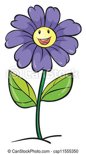 a purple flower - csp11555350