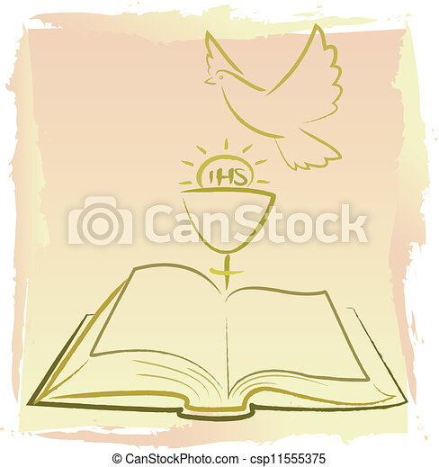 Vectors Illustration of first holy communion - holy spirit - my holy ...