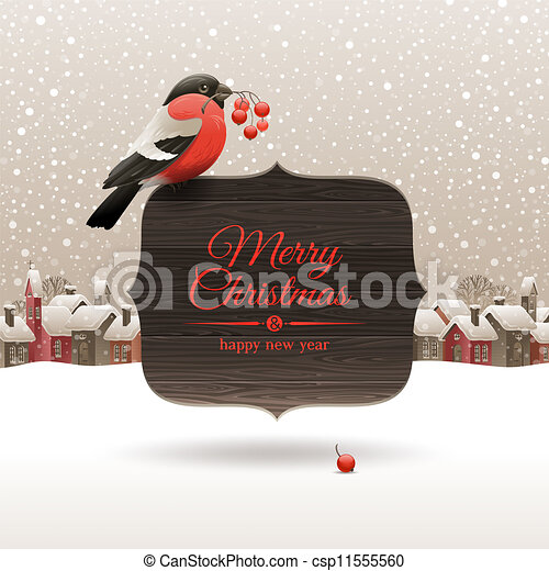 Christmas vector illustration  - csp11555560