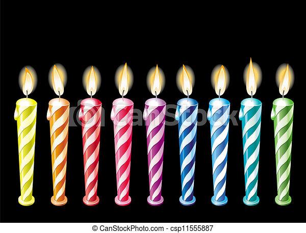 Lit birthday candles Illustrations and Clip Art. 688 Lit birthday ...