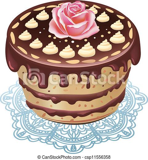 German Chocolate Cake Clipart