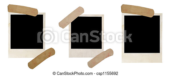 old photo frames with tape - csp1155692