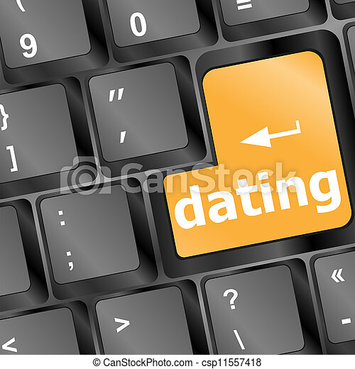 dating computer key showing romance and love - csp11557418