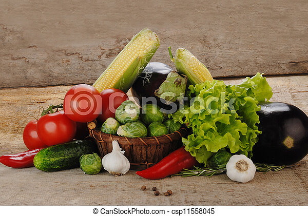 Composition with vegetables - csp11558045