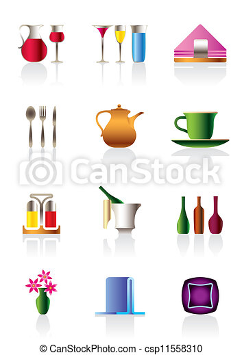 Cafe bar and restaurant icons  - csp11558310