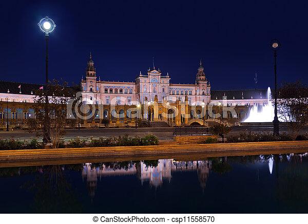Palace at Spanish Square in Sevilla Spain - csp11558570