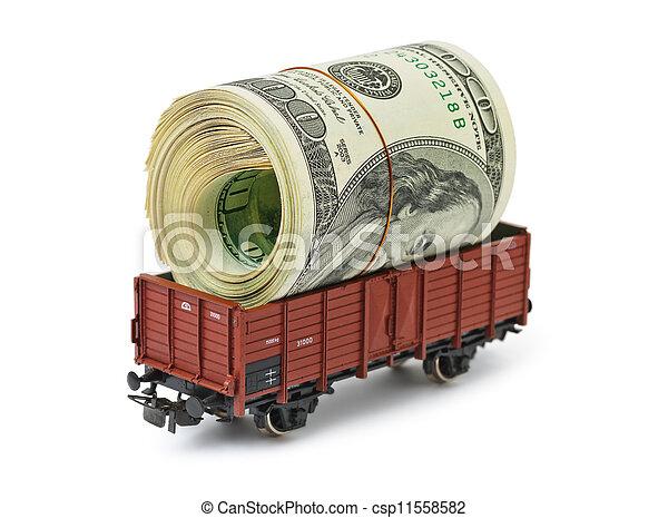 Train with money - csp11558582