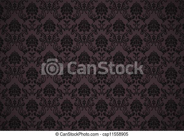 stock de oscuridad barroco papel pintado textura