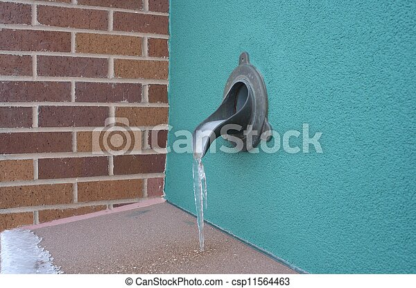 Stock Image Of Roof Drain Side View Flat Roof Drains