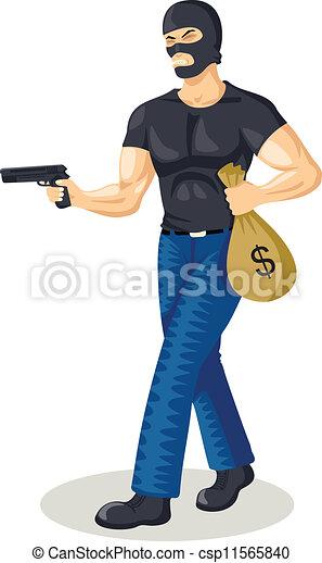 Voleur de banque de fille