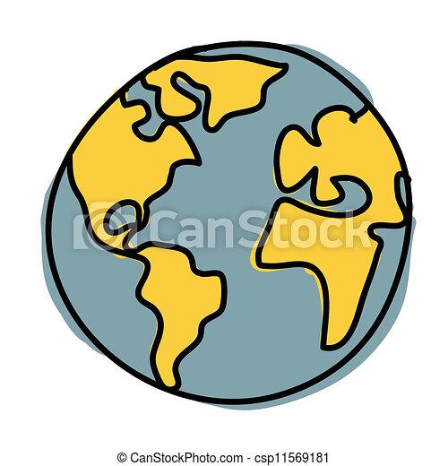 vecteur de cartoon plan te cr dit nasa la terre planet csp11569181. Black Bedroom Furniture Sets. Home Design Ideas