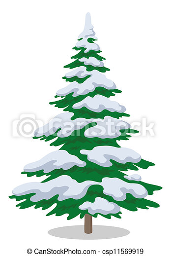 Christmas tree with snow - csp11569919
