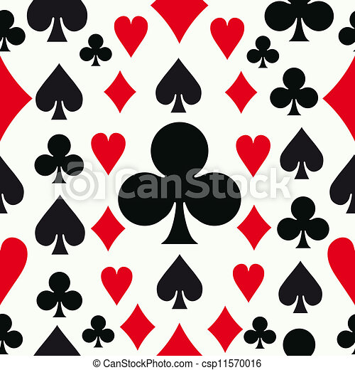 Seamless poker pattern background - csp11570016
