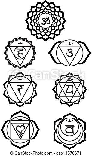 Ilustra o Vetorial de sete chakras csp11570671 Buscar