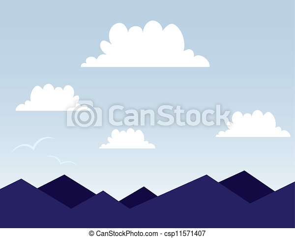 Mountain Scene - csp11571407