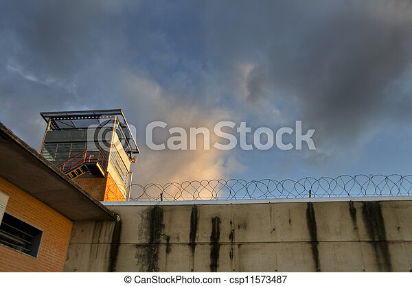Prison sunset - csp11573487