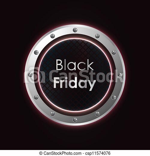 black friday plasma background with metallic design - csp11574076