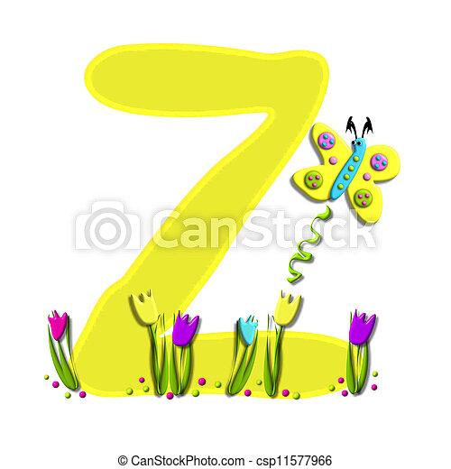 Alphabet Spring has Sprung Z - csp11577966