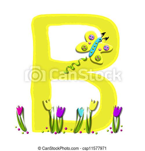 Alphabet Spring has Sprung B - csp11577971
