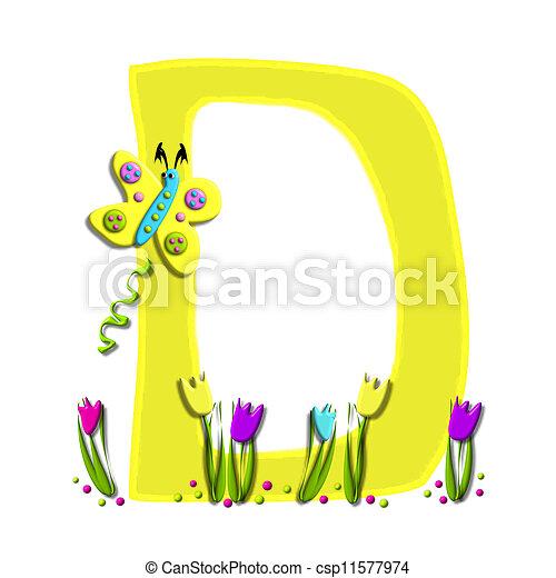Alphabet Spring has Sprung D - csp11577974