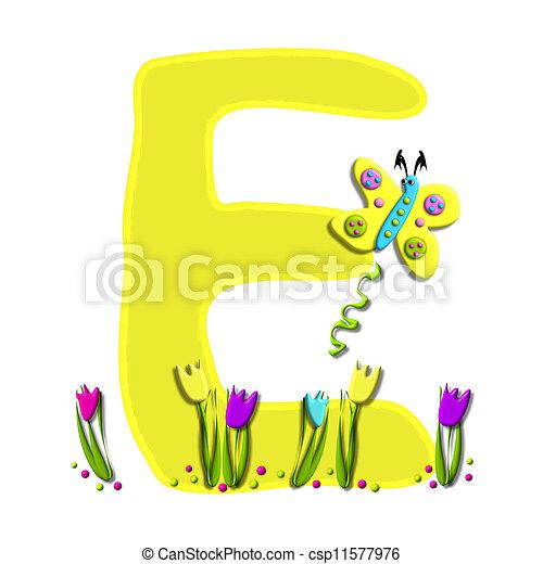 Alphabet Spring has Sprung E - csp11577976