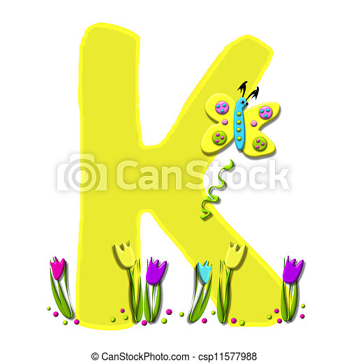 Alphabet Spring has Sprung K - csp11577988