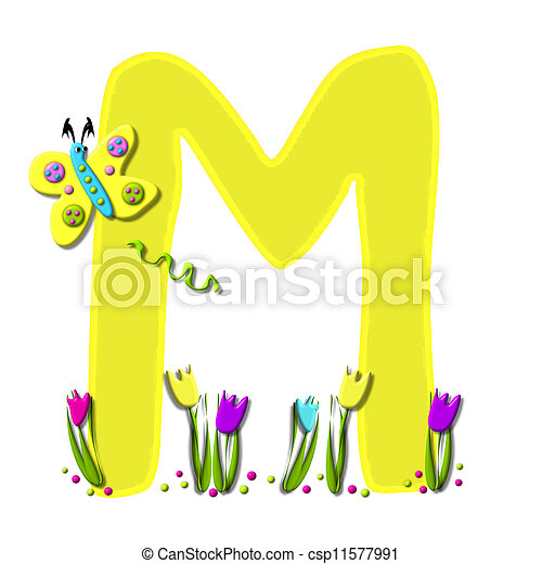 Alphabet Spring has Sprung M - csp11577991