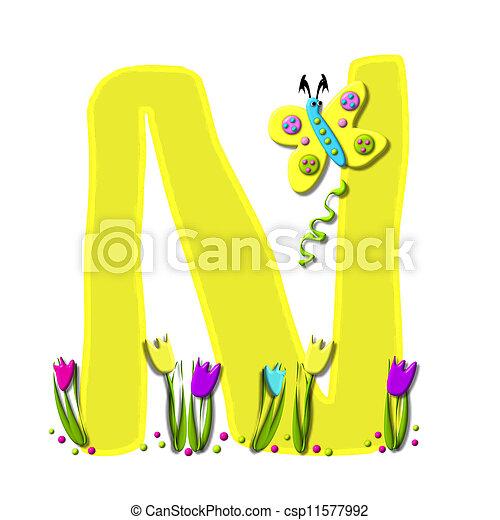 Alphabet Spring has Sprung N - csp11577992