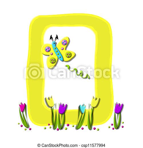 Alphabet Spring has Sprung O - csp11577994