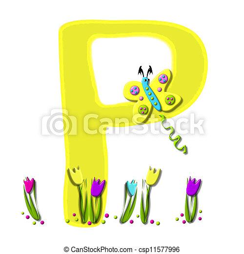 Alphabet Spring has Sprung P - csp11577996