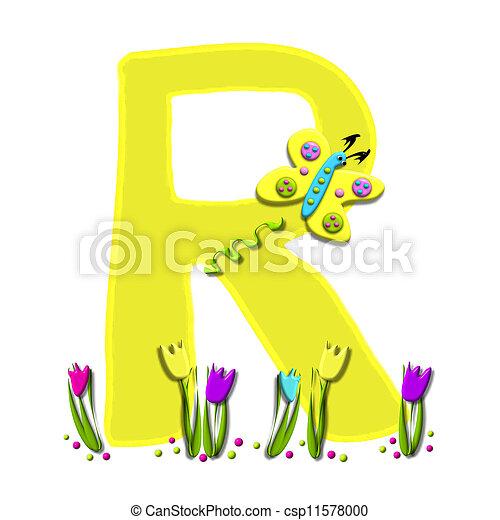 Alphabet Spring has Sprung R - csp11578000
