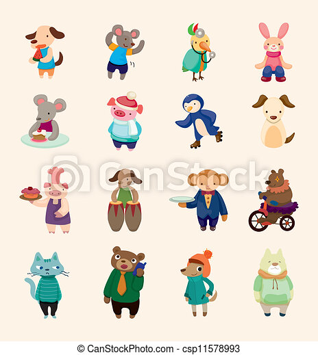 set of animal icons - csp11578993