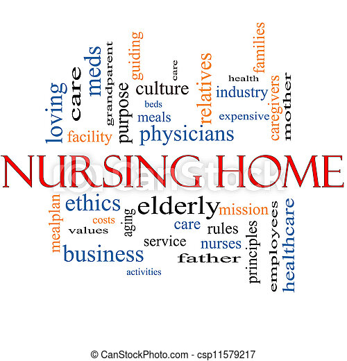 Nursing Home Word Cloud Concept - stock image, images, royalty free ...