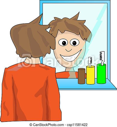 Csp11581422 eps for Se regarder dans un miroir