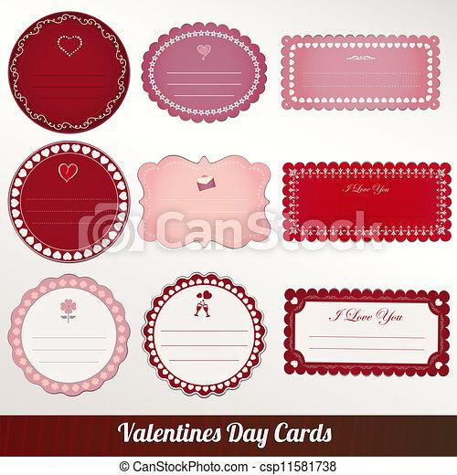 Valentines day vintage card vector - csp11581738