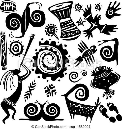 Elements for designing primitive art - csp11582004