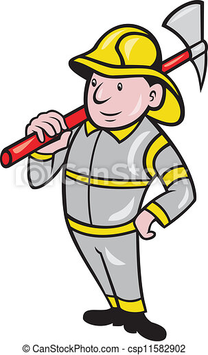Fireman Firefighter Emergency Worker - csp11582902
