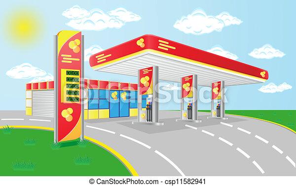 Petrol station Vector Clip Art Royalty Free. 6,222 Petrol station ...