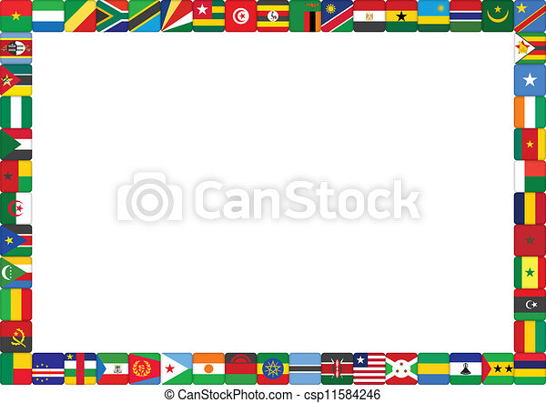 of African countries flags International Flag Borders