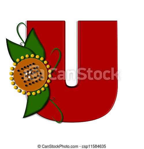 alfa,  U, girasol - csp11584635