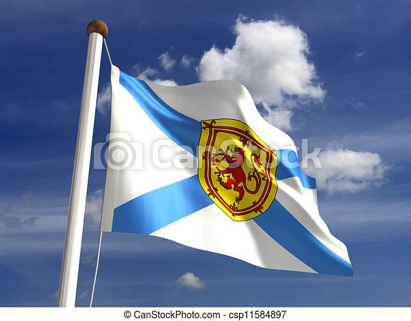Nova Scotia flag Canada - csp11584897