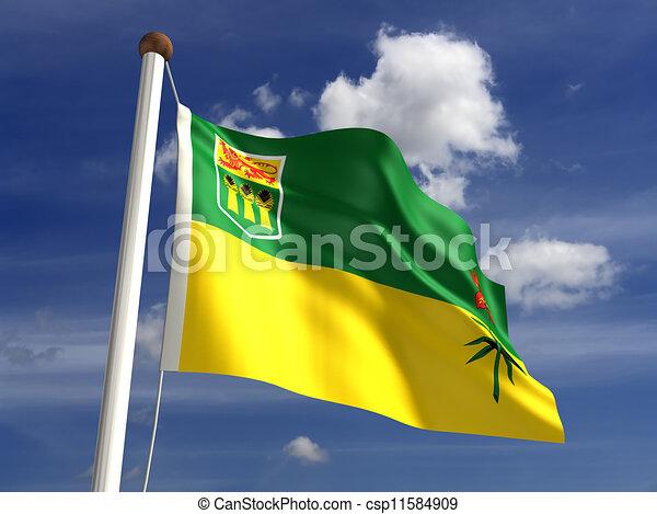Saskatchewan flag Canada - csp11584909