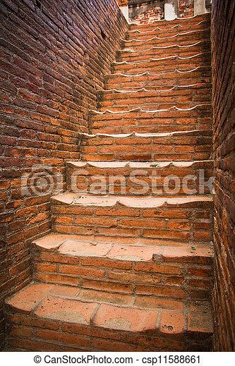 Stock de imagenes de tailandia escaleras de ladrillo - Escaleras de ladrillo ...